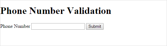 Validate Phone Number Format using jQuery